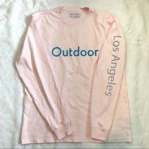 NWOT OV LA long sleeve shirt light pink Angeles L